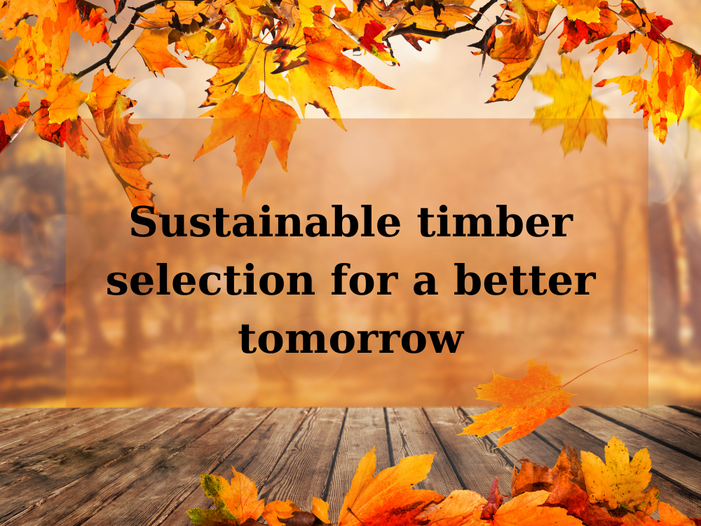 Sustainable timber selection for a better tomorrow
